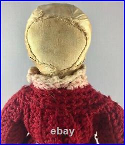 15 Antique American Cloth Early American Boy Doll! Rare! Adorable! 18022