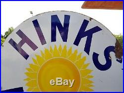 1880s Antique Early Extremely Rare Victorian Hinks Lamps Enamel Sign England