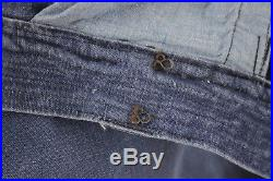 24 Vintage Denim pants French naval jeans early 1900's AMAZING RARE trousers old