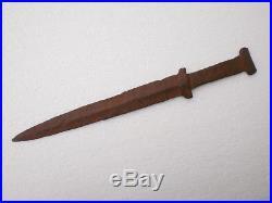 ANCIENT RARE Iron Dagger Short Sword Akinakes Early Iron Age Scythian 1 BC -1 AD