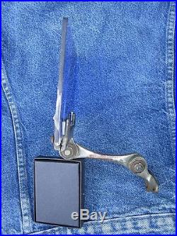 ANTIQUE EARLY 20th CENTURY BLUE GLASS VISOR OR MIRROR RARE AMERICAN AUTOMOBILIA