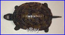 ANTIQUE HOTEL DESK TURTLE TORTOISE FRONT DESK MECHANICAL BELL EARLY Shell RARE