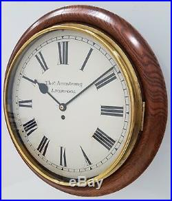 A Large, Rare 13 Dial Early 1900s W&H School/Railway Single Fusee Clock GWO