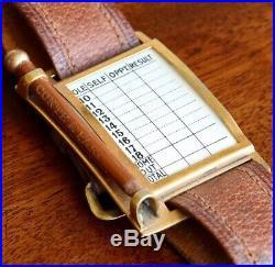 A Rare Antique Golf Score Card Wrist Strap Bracelet, Early 20th Century, c. 1905