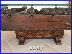 A Rare & Unique Early Antique Farming Scarifier Coffee Table Rustic Industrial