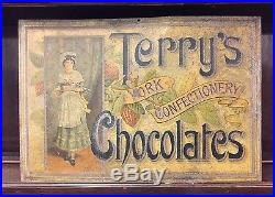A Very Rare & Early Antique Terry's Chocolates Shop Sign. Open To Offers