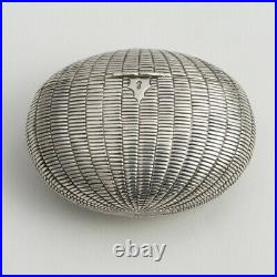 A Very Rare Early Victorian Silver Novelty Snuff Box By Benjamin Smith III 1847