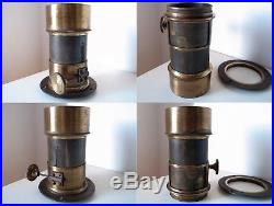 Alexis Gaudin Petzval 200mm f4 Very Early French Antique Brass Lens c1856 RARE