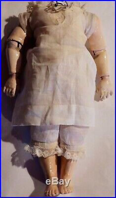 Antique 10 Early 8 Ball Doll Body Dressed, RARE in Original Finish