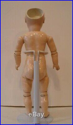 Antique 14 early Jumeau hand pressed, closed mouth doll, rare 8 ball body