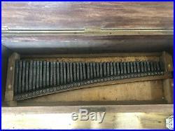 Antique Dulcitone. Early Celeste Type Keyboard. Rare 3 1/2 Octave Piano