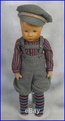 Antique EARLY17 Kathe Kruse Rare VIII Cloth Head Doll painted hair 1920s