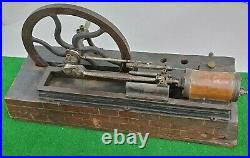 Antique Early 1900s Cast Iron Live Steam Engine Model Old Barn Find Rare