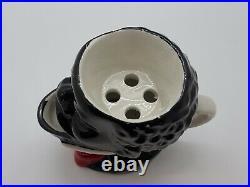 Antique Early Black Americana Figural Head Porcelain Ceramic Shaving Mug Rare
