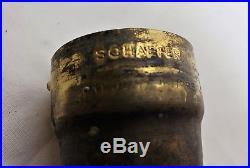Antique Early Unusual Original Rare Scheafer Nipple Light Bulb W Socket Switch