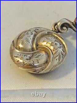 Antique Early Victorian 9 Ct Rose Gold Mourning Pendant Rare Collectible 1850s