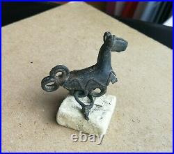 Antique Early Viking-age Zoomorphic Horse Bronze Amulet Super Rare