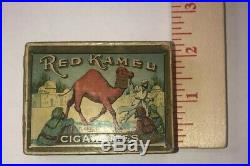 Antique Empty Red Kamel Cigarette Pack 1913-1917 Early Rare Scare Box Ephemera