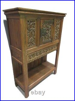 Antique French Oak Sideboard Early Victorian Rare Design House Keepers Cupboard