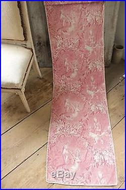 Antique French early 19th c old toile RARE Stag Deer toile de Alsace c1820