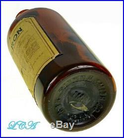 Antique GLYKEROIN HEROIN embossed QUACK MEDICINE bottle. Large, early RARE