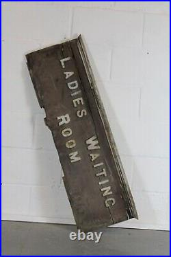Antique Great Western Railway Ladies Waiting Room Sign Early 1900s Rare