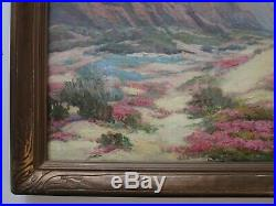 Antique Marie Kendall Painting Early California Woman Rare Desert Landscape Old