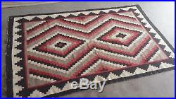 Antique Native American Rug 48x73 Rare Find. Early Navajo Textile. Authentic