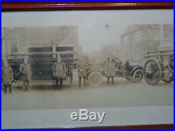 Antique PHOTOGRAPH Narragansett Pier, RI. FIRE DEPT Rare Yard Long Early 1900s