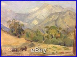 Antique Painting California Impressionist Rare Early Portrayal Of Sunland Ca