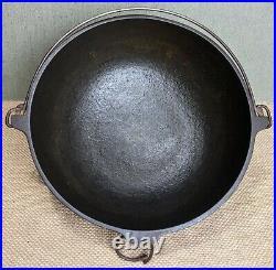 Antique Pre-griswold'erie' Scotch Bowl No. 3 Cast Iron Pot USA Euc Early Rare