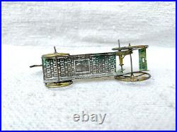 Antique Rare Early H. A Depose Litho Horse On Platform Wheel Penny Tin Toy France