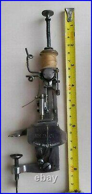 Antique Rare Early Plunger Moldacot Model Portable Pocket Sewing Machine