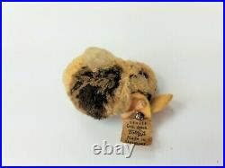 Antique Rare Early Steiff Woolie Easter Bunny Rabbits with Buttons/Tag