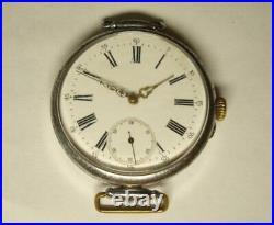 Antique Rare Vintage Men's wrist watch. Switzerland. Early 20th century