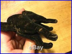 Antique Steiff Halloween Miniature Black Velvet Scaredy Cat RARE HTF EARLY1900s