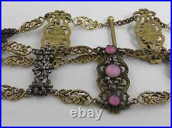 Antique Victorian French Cut Steel Early Choker Necklace. Very Rare