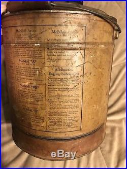 Antique Vintage 5 Gallon Mobiloil Gargoyle AF Early Original Oil Can VERY RARE