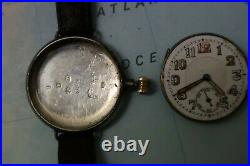 Antique WW1 1916 military trench wrist watch early BORGEL rare model collectible