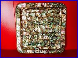 Antique rare italian tray in brass and nacre mother of pearl original early 900s