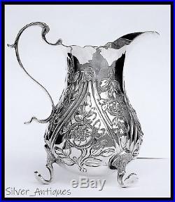 Beautiful Rare Early 18th Century Georgian Solid Silver Cream Jug