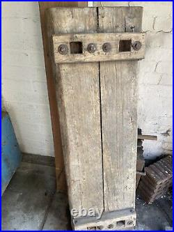 Butchers Block Early Victorian Antique Rare Example Rustic Kitchen Table