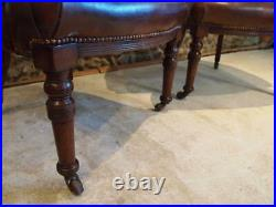 Chairs rare pair of early Victorian Mahogany desk or library chairs c1850