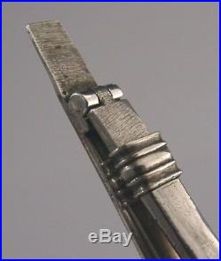 EARLY SOLID SILVER FOLDING CAMPAIGN FORK c1750s MILITARY RARE GEORGIAN ANTIQUE