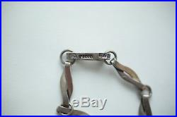 EARLY Taxco 1940s Vintage Antique Heavy Necklace 925 Sterling Silver 24 RARE