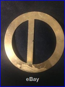 Early 19th C Brass Full Circle Protractor American John Jones Baltimore RARE
