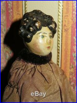 Early 7 Milliner's Model Doll With Rare Head In All Original Presentation