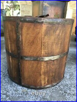 Early Antique Aafa Primitive Wooden Tea Lock Box Caddy Boston Massachusetts Rare