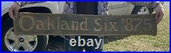 Early Antique Original Oakland Six Automobile Car Dealer Sign Felt Banner Rare