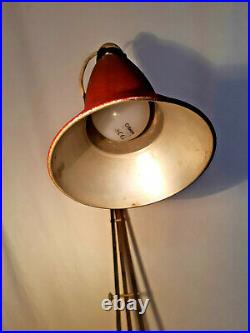 Early Herbert Terry Anglepoise Lamp Three 3 Step Base 1227 1935-38 Vintage Rare
